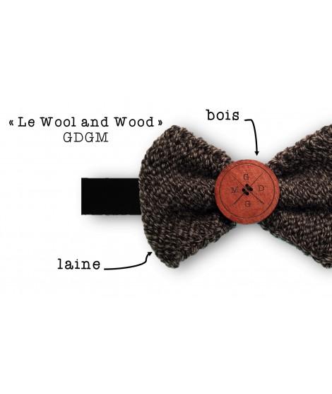 Wool & Wood Noir chiné